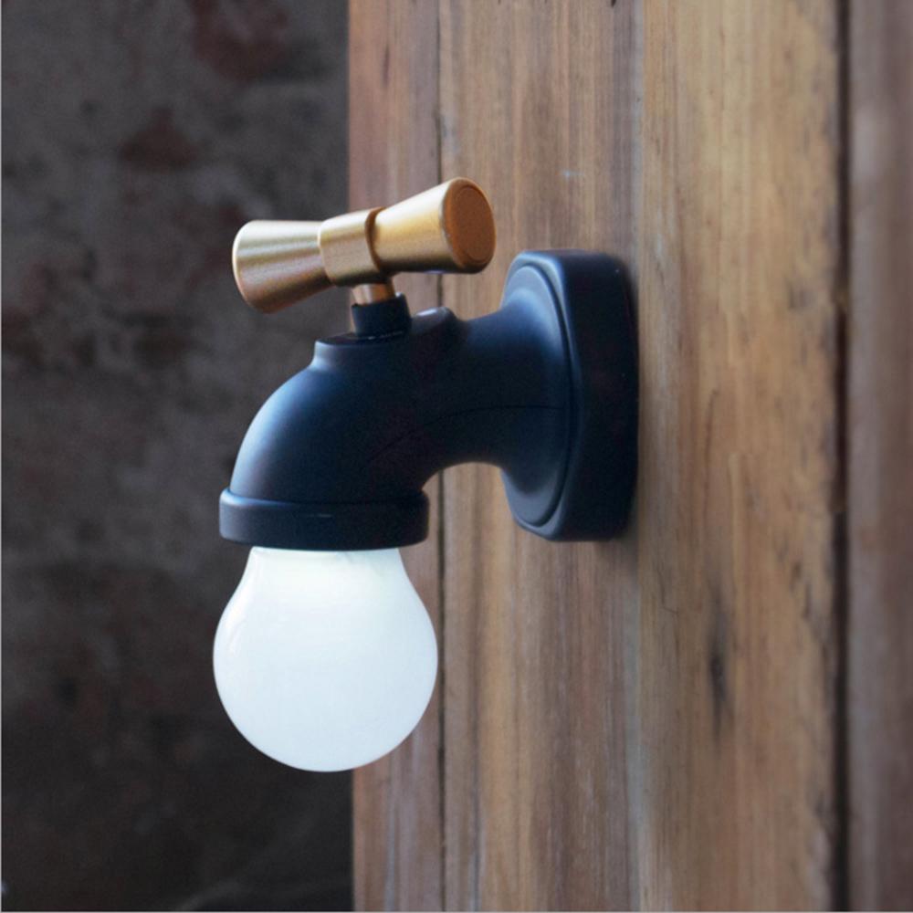 水龍頭LED小夜燈 聲控感應 USB充電