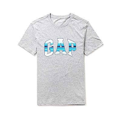 GAP 熱銷經典文字短袖T恤-灰色