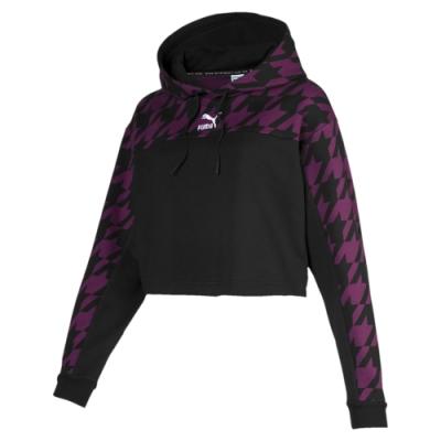 PUMA-女性流行系列Trend長厚連帽T恤-深梅紫-歐規