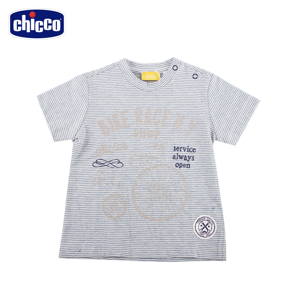 chicco-海岸之旅-細條紋短袖上衣