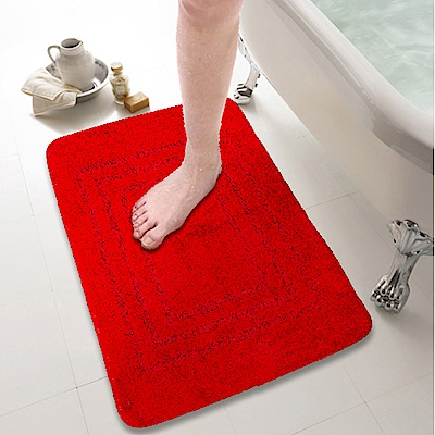 超纖柔立體壓紋吸水防滑踏墊-4色可選
