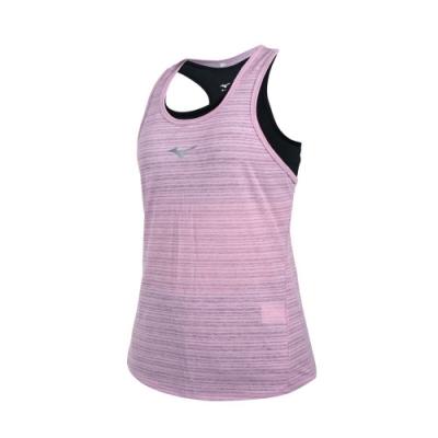 MIZUNO 女兩件式瑜珈背心-台灣製 運動內衣 BRA 上衣 反光 美津濃 K2TA120466 藕紫銀黑