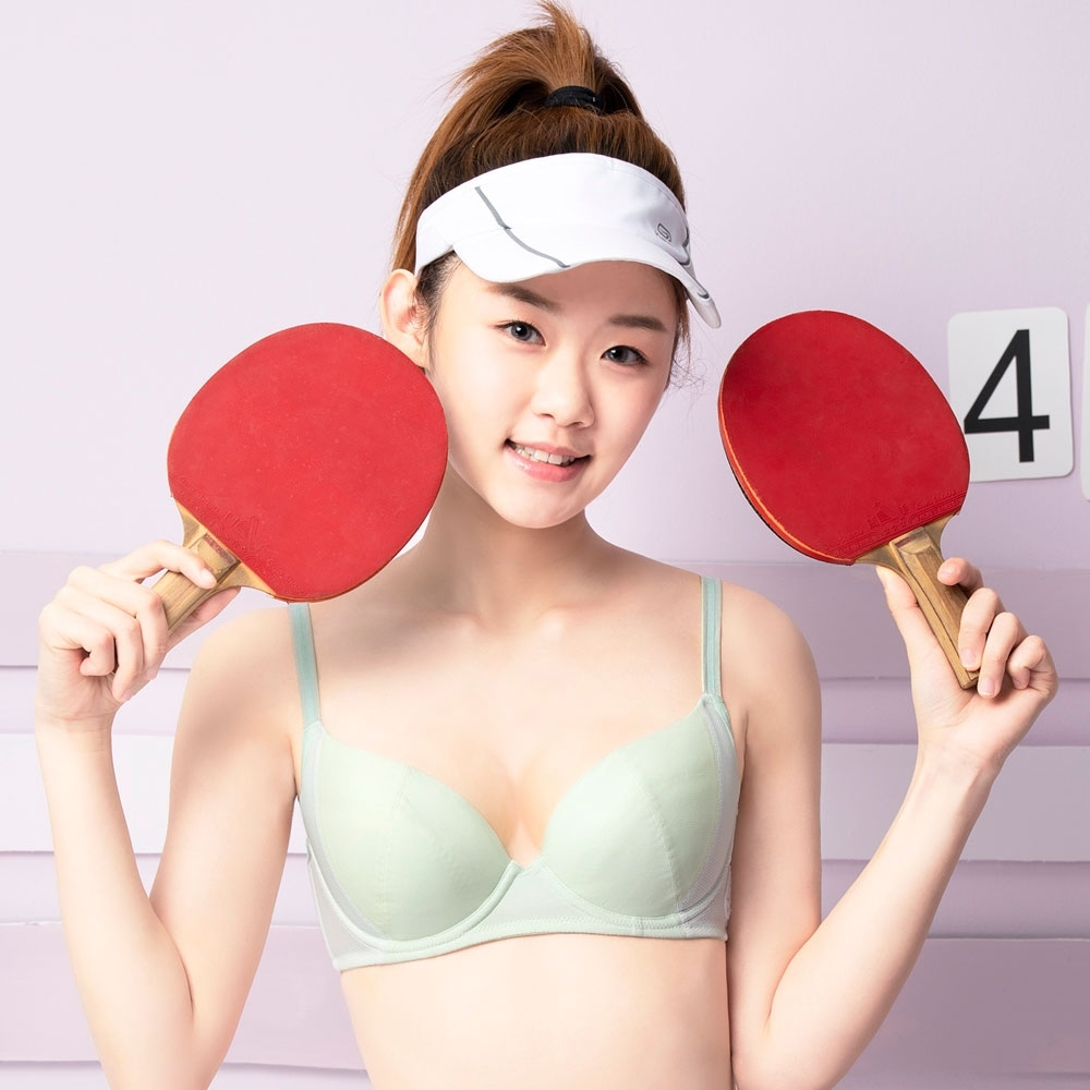 嬪婷 校園運動系列 B-C罩杯內衣(好動綠) 中軟度鋼圈 水涼紗與透氣網洞布 吸排快乾