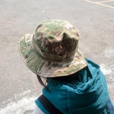 E.City_可翻釦迷彩風戶外遮陽帽漁夫帽