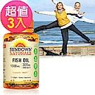 Sundown日落恩賜 高單位精純魚油(72粒)3入組