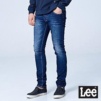 Lee 709低腰合身小直筒牛仔褲/UR-中深藍
