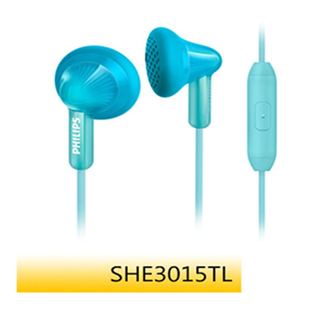 【福利品】PHILIPS 耳塞式耳麥SHE3015 綠藍色