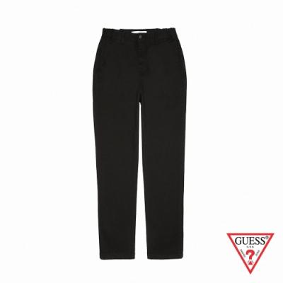 GUESS-男裝-基本素色直筒休閒長褲-黑