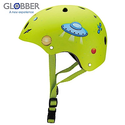 GLOBBER哥輪步 兒童戶外活動防護安全帽-火箭綠