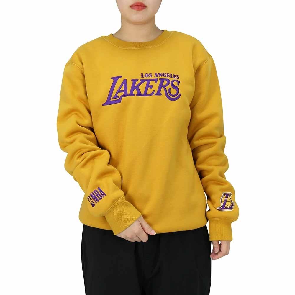 NBA Style C&S T-SHIRTS 內刷毛 長袖上衣 湖人隊