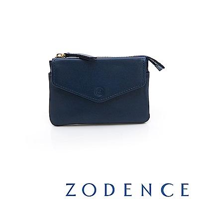 ZODENCE COMBO系列進口牛皮零錢包 藍色