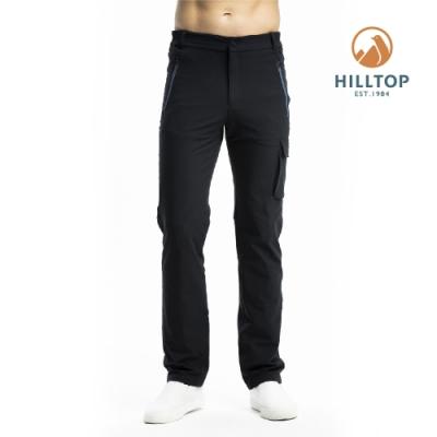 【hilltop山頂鳥】男款超潑水彈性保暖長褲PH31XML6ECA0魚子醬黑
