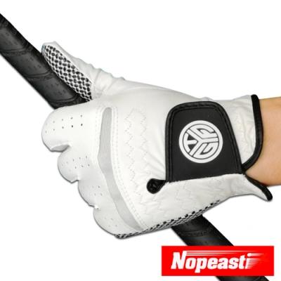 Nopeasti諾比 小羊皮透氣防滑耐磨高爾夫運動手套(L/左手)