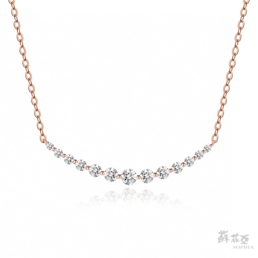 SOPHIA 蘇菲亞珠寶 - 羅曼蒂克 14K玫瑰金 鑽石項鍊