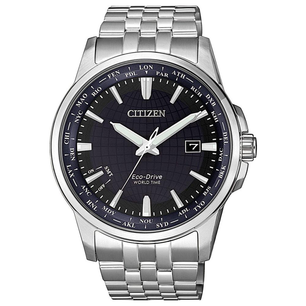 CITIZEN 星辰 GENT限量藍寶石地球防磁夜光指針腕錶41mm (BX1001-89L)