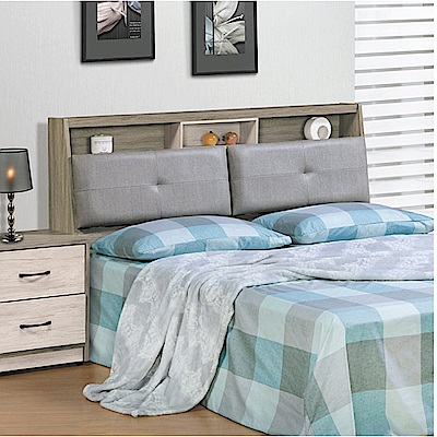 綠活居 莉比娜時尚5尺皮革雙人床頭箱(不含床底)-152x26x99cm免組