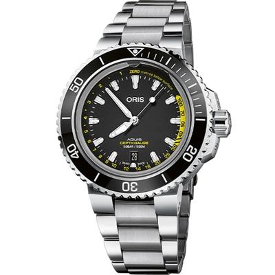 Oris豪利時 Aquis Depth Gauge 深度測量錶 0173377554154-SetMB-45.8mm