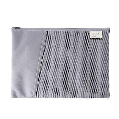 Livework 休閒風雙層對摺文件袋V2-質感灰