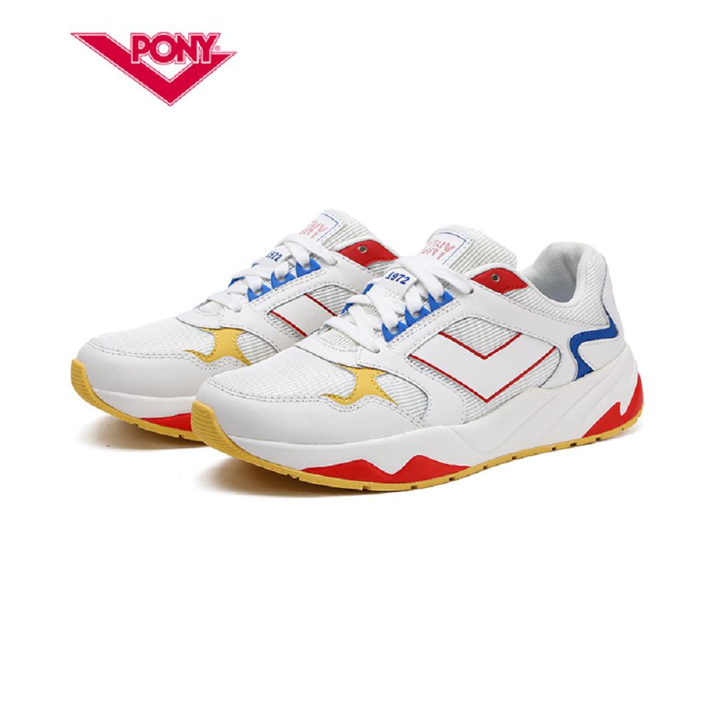 【PONY】Modern 復古風格饅頭/慢跑鞋款-女-紅
