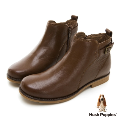 Hush Puppies CALEY 個性短靴-咖啡色