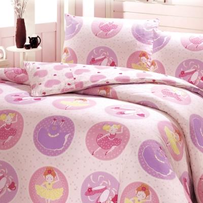 鴻宇 美國棉100%精梳棉 防蟎抗菌 夢幻公主 雙人四件式薄被套床包組