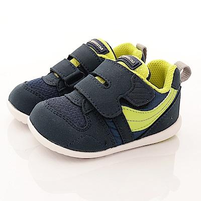 日本月星頂級童鞋 HI系列2E抗菌款 77S5藍 (寶寶段)
