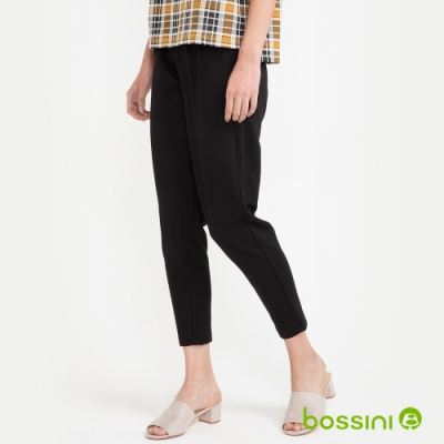 bossini女裝-針織哈倫褲黑