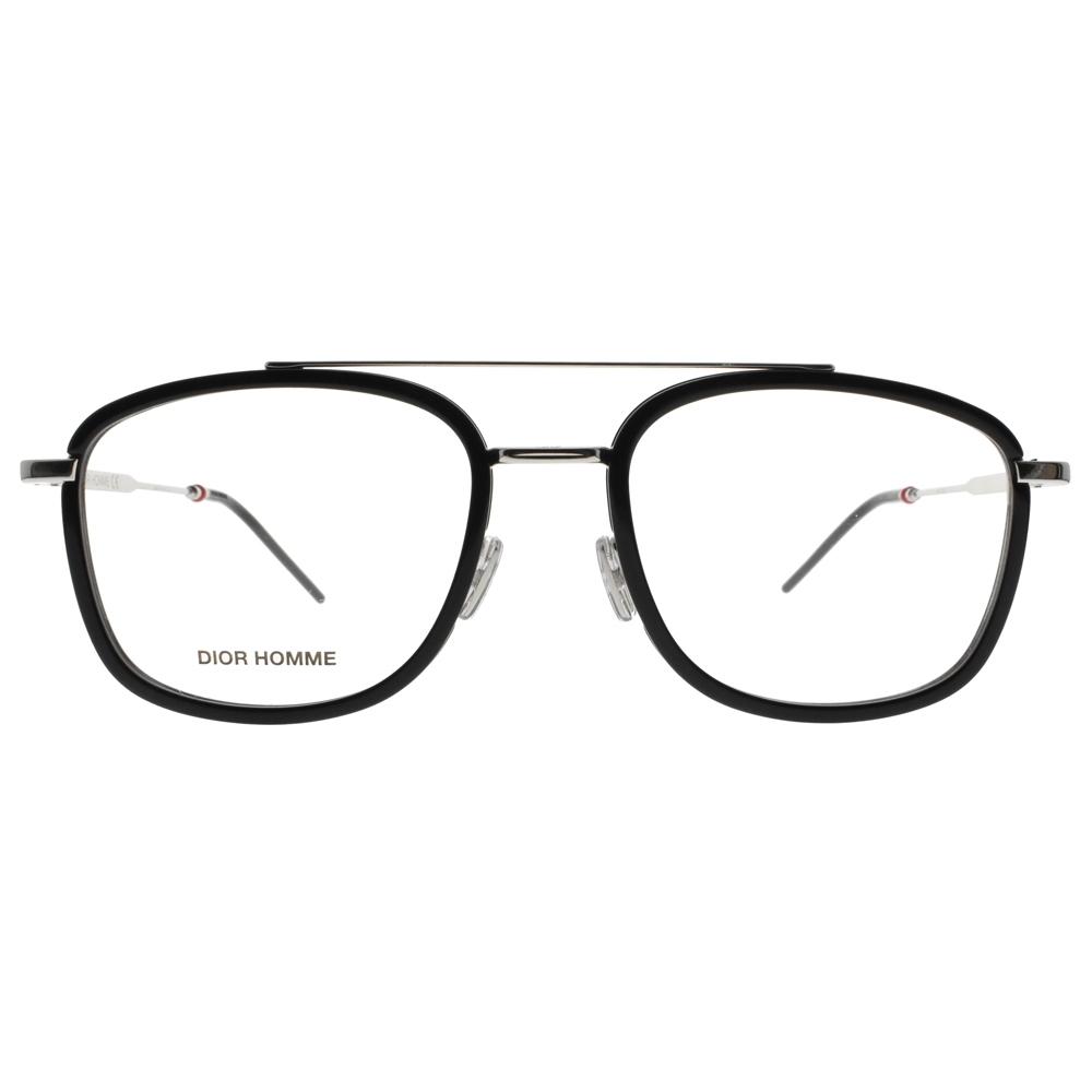 DIOR 眼鏡 典雅復古款/黑-銀 #CD 0229 CSA