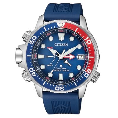 CITIZEN 星辰光動能200米潛水錶BN2038-01L-藍/46mm
