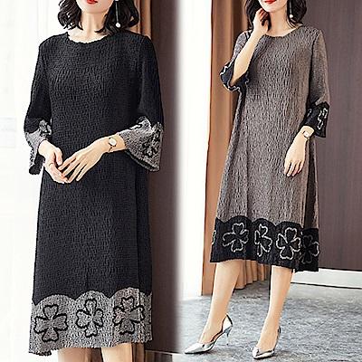 【KEITH-WILL】新品俐落優雅皺褶洋裝-2色