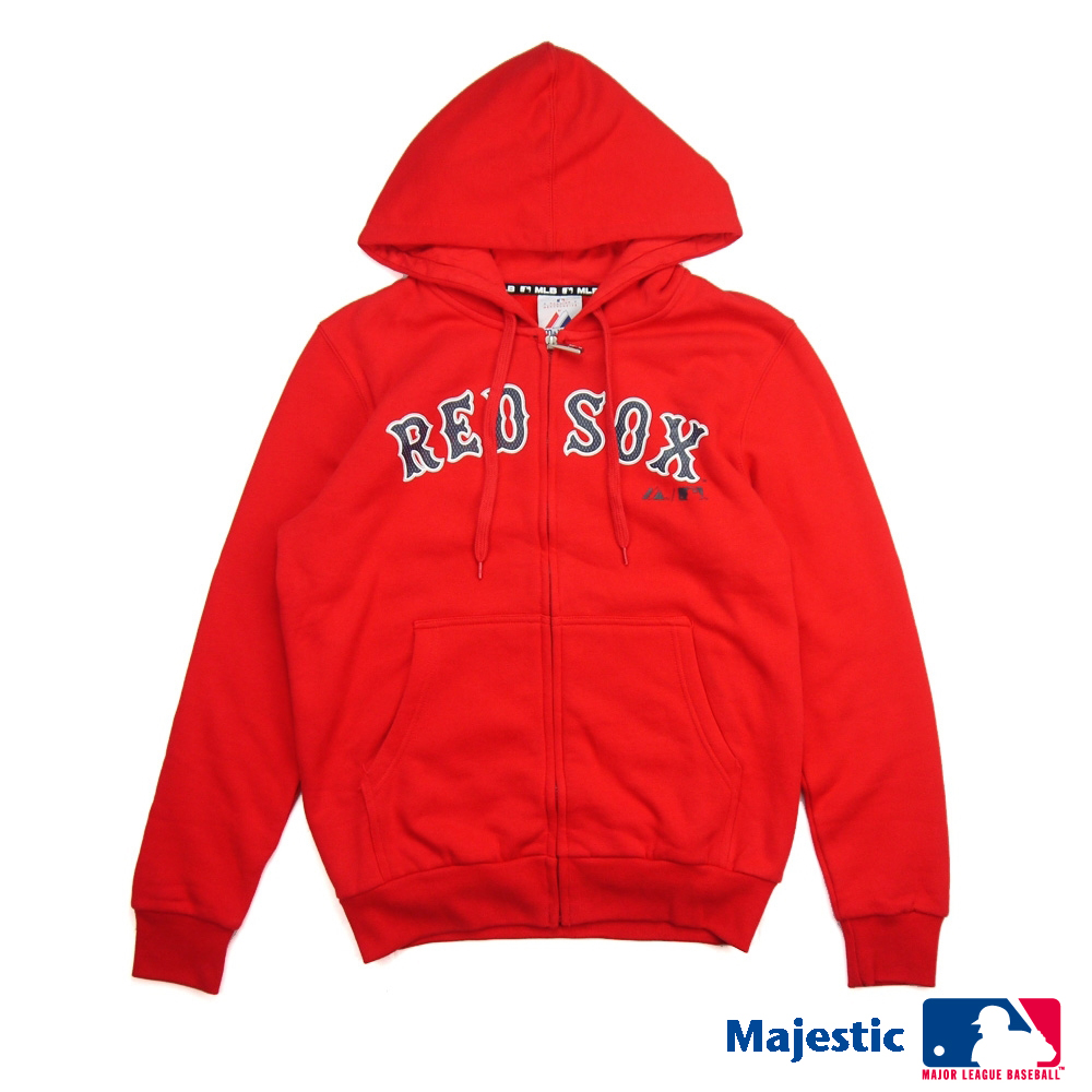 Majestic-波士頓紅襪隊運動連帽外套-紅(男)