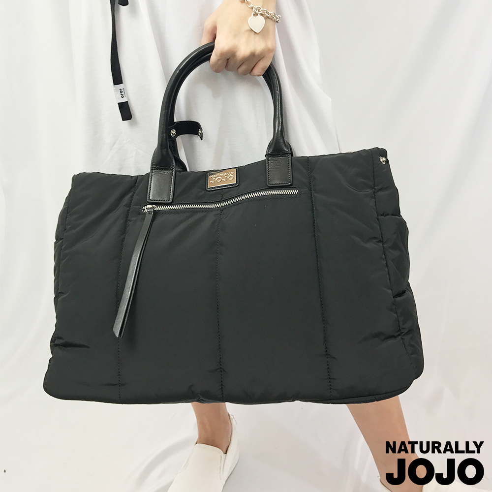 NATURALLY JOJO 澎澎感托特空氣包(黑)