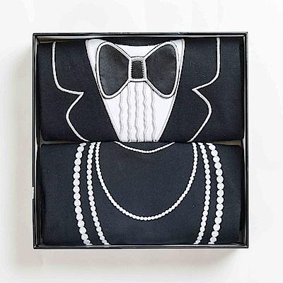 美國Frenchie MC 成人防水圍兜2件組禮盒(燕尾服&珍珠項鍊)