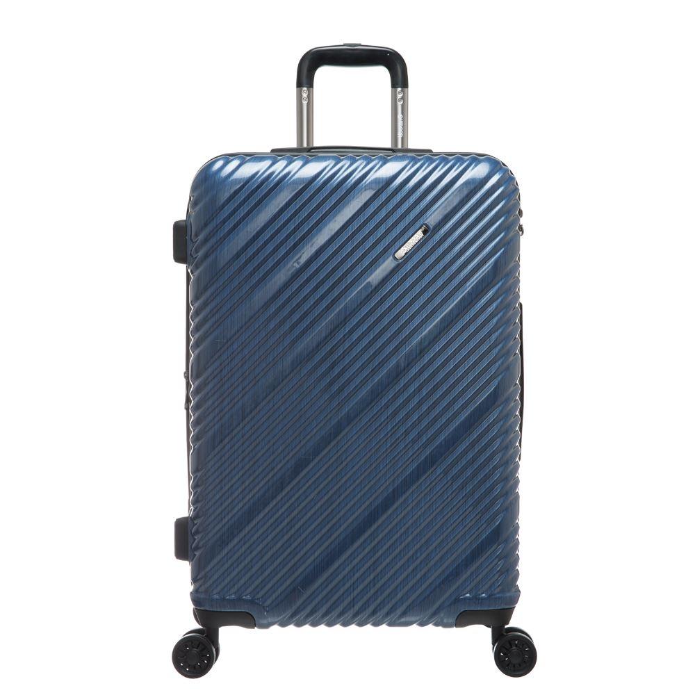 SKYLINE -24吋拉鍊箱-藍髮絲紋 OD9089B24NY