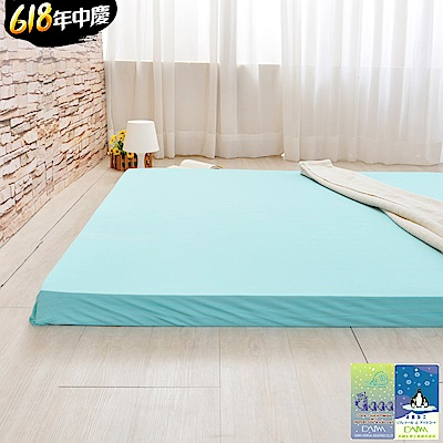 (618限定)加大-LooCa 綠能涼感護背10cm減壓床墊(搭贈日本接觸涼感)