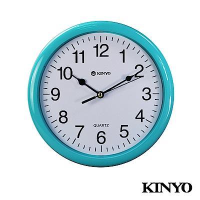 KINYO精緻掃描靜音8吋掛鐘CL108