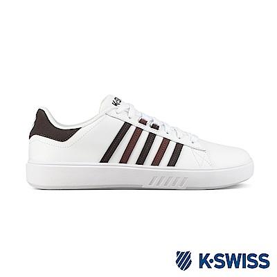 K-Swiss Pershing Court CMF休閒運動鞋-男-白/咖啡