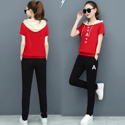 【韓國K.W.】(預購)運動套裝字母運動套裝褲-3色