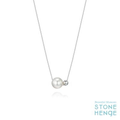 STONEHENgE 斯通亨奇 純銀水晶雙珍珠項鍊