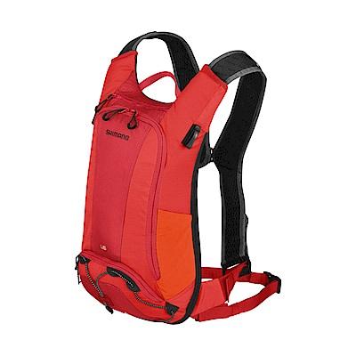 【SHIMANO】UNZEN 6L 自行車水袋背包 赤紅
