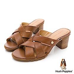 Hush Puppies Griffon 美型厚跟涼鞋-棕褐色