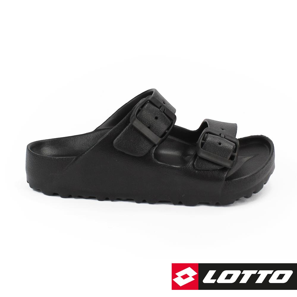 LOTTO 義大利 童 BURANO拖鞋 (黑)