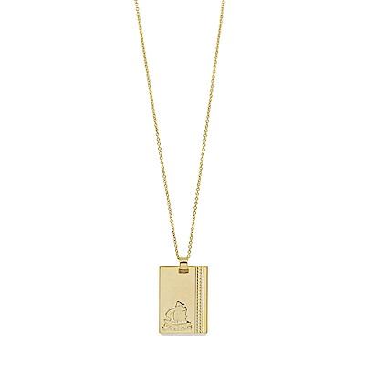 Dorsey 美國時尚品牌 海洋風情浮雕吊牌金色項鍊