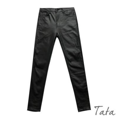 內加絨緊身皮褲 TATA-(M~XL)