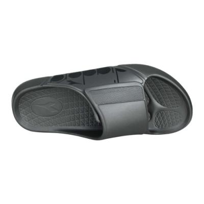 DIADORA 男MIT拖鞋-台灣製 魔鬼氈 海邊 海灘 戲水 游泳 沙灘 DA71221 鐵灰黑
