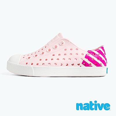 native 大童鞋 JEFFERSON 小奶油頭鞋-櫻花粉x夜光桃