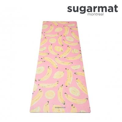 加拿大Sugarmat  麂皮絨天然橡膠瑜珈墊(3.0mm) 水果戀曲Banana & Lemon