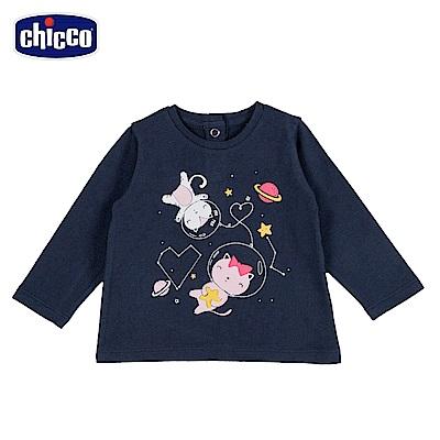 chicco-To Be Baby-圓領長袖上衣-貓咪(18個月-4歲)