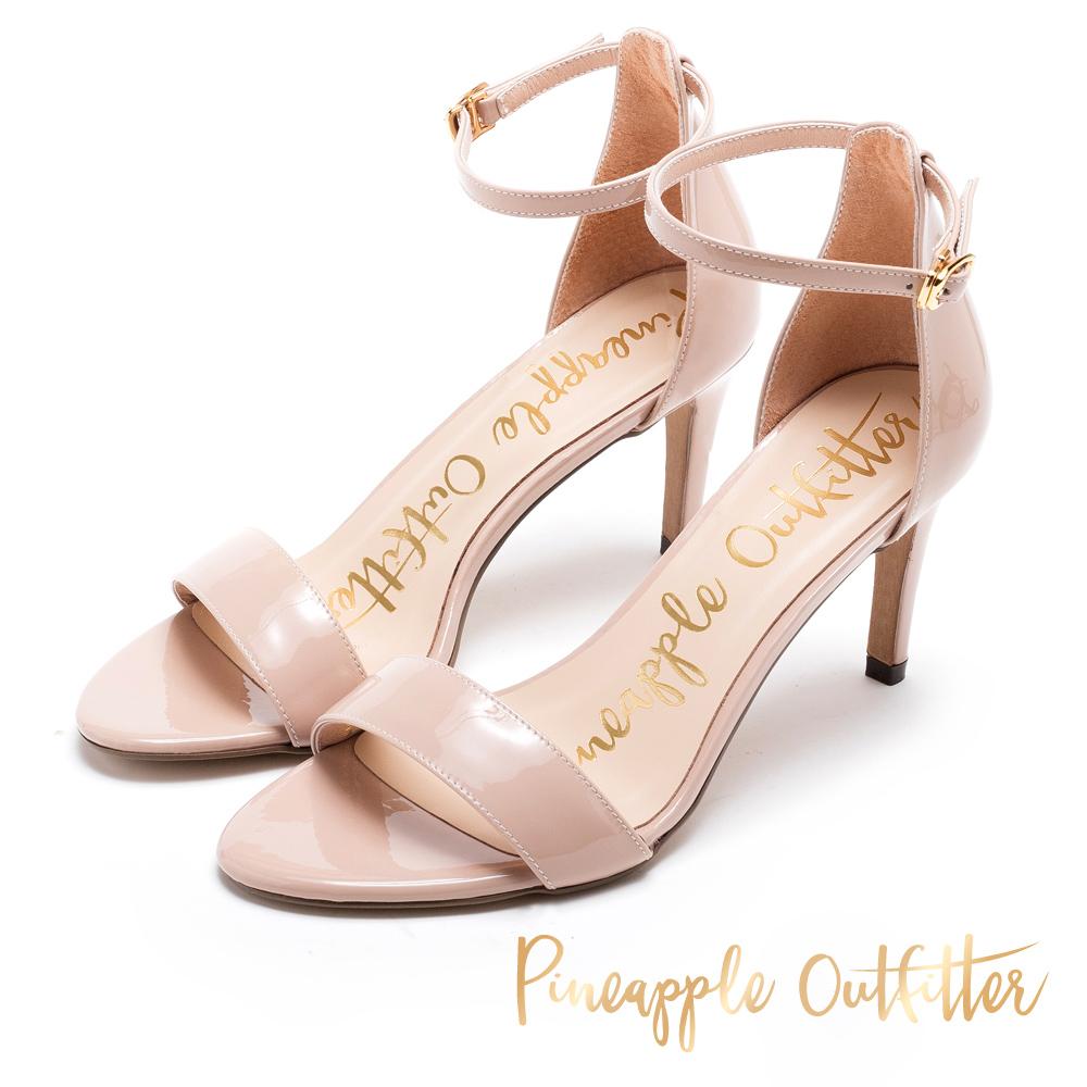 Pineapple Outfitter 浪漫約會 繞踝露趾高跟涼鞋-粉色