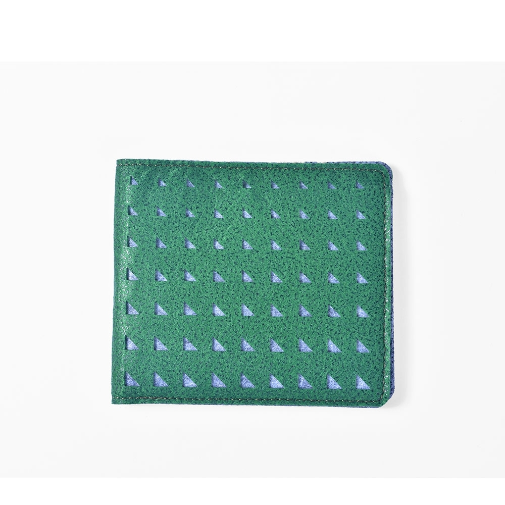 M.R.K.T.  極簡工業風切割圖案設計短夾-118531B GREEN(綠色)